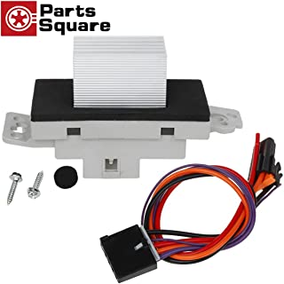 PartsSquare Heater Blower Motor Resistor Complete Kit With Harness 1581773 89018778 Replacement for Chevy Silverado Tahoe Suburban,GMC Sierra Yukon,Cadillac Escalade (AC Heater Control Module)