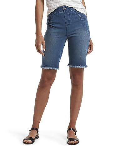 HUE Ultra Soft Denim High-Waist Bermuda Shorts