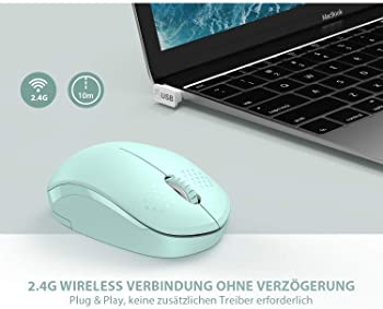seenda [Upgrade] Wireless Mouse, 2.4G Noiseless Mouse with USB Receiver Portable Computer Mice for PC, Tablet, Laptop...
