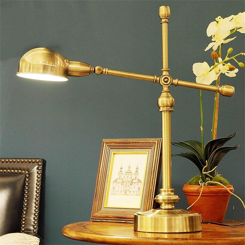 HOME-Europäische antike Vollkupfertischlampe Wohnzimmer dekorative Leuchten B01MSLQGKF   | Hohe Sicherheit