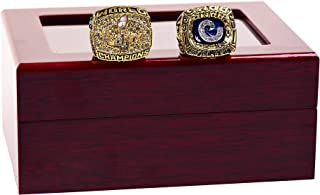 Replica NFL 2 Pcs 1979+1999 St. Louis Rams Championship Rings Set Gift Fashion Gorgeous Collectible Jewelry