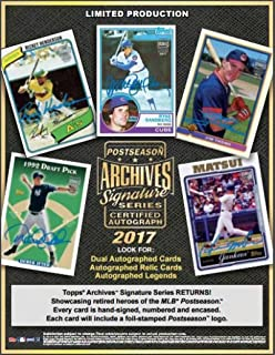 2017 Topps Archives Signature Series Postseason Hobby Box (1 Pack of 1 Autographed Card)