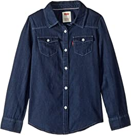 Western Long Sleeve Denim Top (Little Kids)