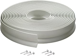 Best M-D Building Products Available 3822 Vinyl Garage Door Top and Sides Seal, 30 Feet, White Review
