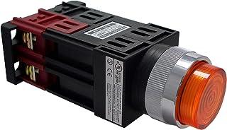 マルヤス電業φ22照光押ボタンSW突形 トランス付AC100~110V LED照光(ピュアホワイト・ハイブライト)1a接点 A22 FT200 10PWLH