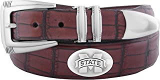 ZEP-PRO NCAA Men's Crocodile Leather Concho Tapered Tip Belt