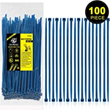 Nylon Zip Ties Heavy Duty- 8 Inch Blue,Multi-Purpose Self Locking Cable Ties, Ultra Strong Plastic Wire Ties with 50 Pounds Tensile Strength, 100 Pieces.