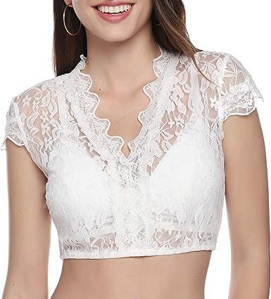iClosam Camiseta Blusas Mujer Verano Sexy Ropa Camisa Blanca Manga Corta para Mujer Fiesta en la Playa y Festival de Cerveza Alemana