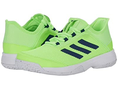 adidas Kids Adizero Club Tennis (Little Kid/Big Kid) (Signal Green/Footwear White/Tech Indigo) Kids Shoes