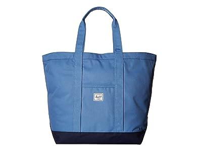 Herschel Supply Co. Bamfield Mid-Volume (Riverside/Peacoat) Tote Handbags