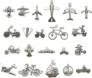 Travel Transportation Charm Collection-100g Craft Supplies Car Plane Charms Pendants for Crafting, Jewelry Findings Making Accessory For DIY Necklace Bracelet Earrings M98 (Transportation Charms)