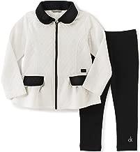 Calvin Klein Girls' Double Knit Jacket with Leggings Set