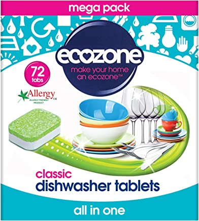 Ecozone Dishwater Tablets 72 Tablets