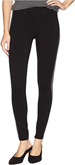 Chloe Ankle Leggings Stripe in Super Stretch Ponte Knit