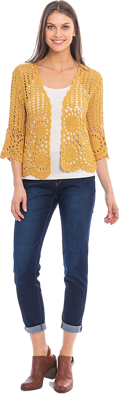 Skyes The Limit Women's Crochet Cozy Cardigan