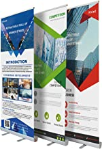 wide base retractable banner stands