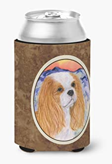 Multicolor Carolines Treasures BB3449GYTWE Cavalier King Charles Gray Embroidered Kitchen Towel Set of 2 28 x 19