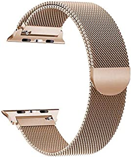 Milanese loop Strap for apple watch band 1 2 3 4 for size 42mm or 44mm Band stainless steel Bracelet watch band, GOLD