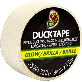 """Mini Duck Tape .75"""" Wide 6 Feet Roll-Glow In The Dark"""
