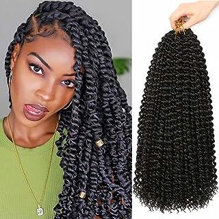 6Packs Passion Twist Hair 18Inch Water Wave Crochet Hair for Passion Twist Crochet Braiding Hair Long Bohemian Hair Braidi...