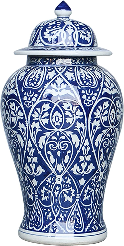 Very popular! KORANGE Blue and White Ginger Decorative Porc Jar Super-cheap Temple
