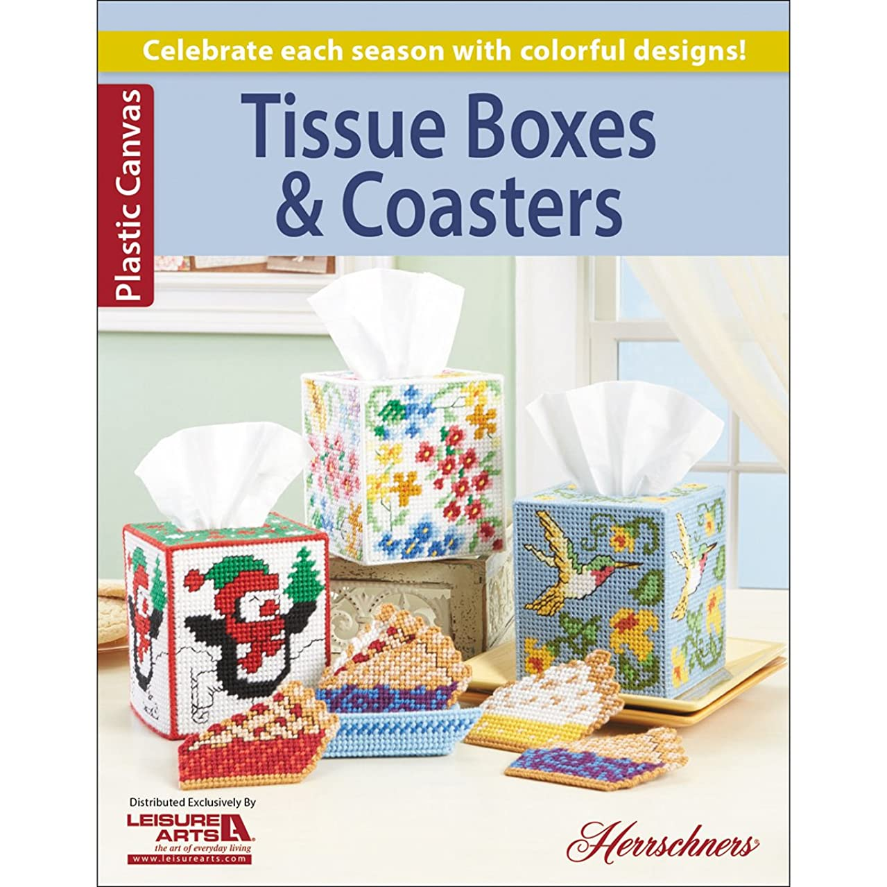 Leisure Arts-tissue Boxes & Coasters