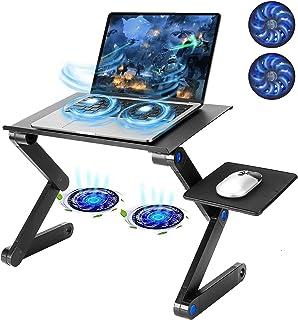 TXG Mesa Laptop, Bastidor de Enfriamiento para Computadora Portátil , Soporte de Aluminio Ajustable Portátil, Doble Ventil...