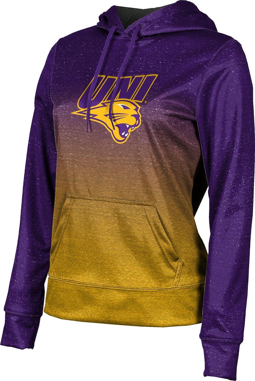 University of Northern Iowa Girls' Pullover Hoodie, School Spirit Sweatshirt (Ombre)