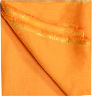 BENEPANNO Men's Acura 60 Lea Linen Shirt (Orange, Free Size)