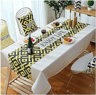 Gamvdout Élégant et Simple Nappe en Coton et en Lin - Nappe étanche Table de Table Table Basse Table de Table de Pique-Niq...