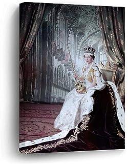 "VinMea Framed Canvas Prints Queen Elizabeth II Wall Art Decor Ready to Hang 12""x16"""