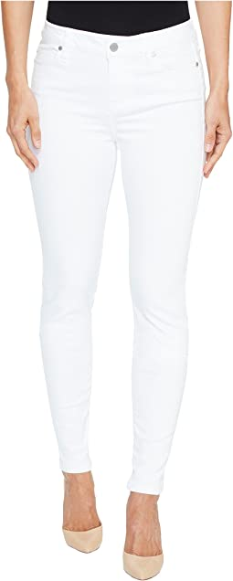 Liverpool Abby Skinny in Vintage Slub Stretch Twill in Bright White