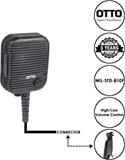 OTTO Evolution Speaker Microphone for Motorola EX500 GP388 and Pro5150Elite Two Way Radios