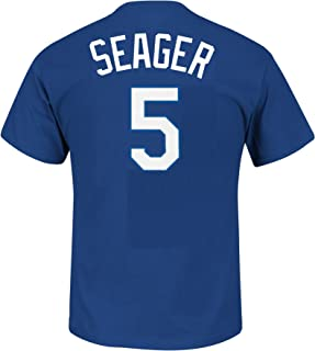 Majestic Corey Seager Youth Los Angeles Dodgers Blue Name and Number Jersey T-Shirt