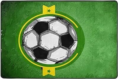 iRoad - Alfombra para sala de estar, diseño de fútbol en 3D con ...