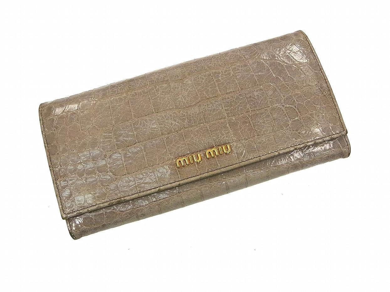 裸合法チャーター[ミュウミュウ] miumiu 長財布 レザー X8417 中古