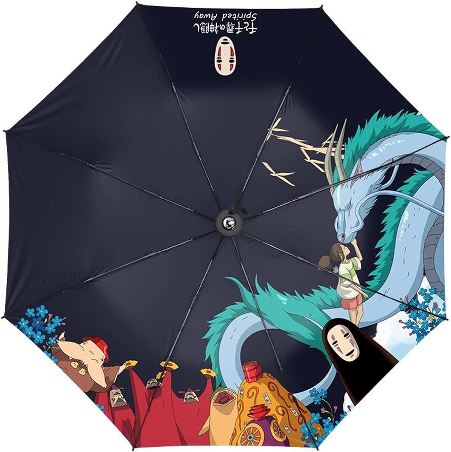 LUBINGT Folding Umbrella Super beauty product restock quality Cheap sale top Anime Spirited Away Umbrel Prop Cosplay