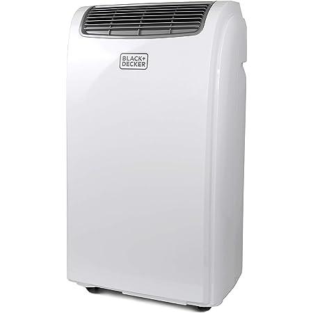BLACK+DECKER BPACT08WT Portable Air Conditioner with Remote Control, 5,000 BTU DOE (8,000 BTU ASHRAE), Cools Up to 150 Square Feet, White