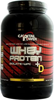 Capital Power Plus (Whey Chocolate) Isolate%80 Protein + Vitamin D
