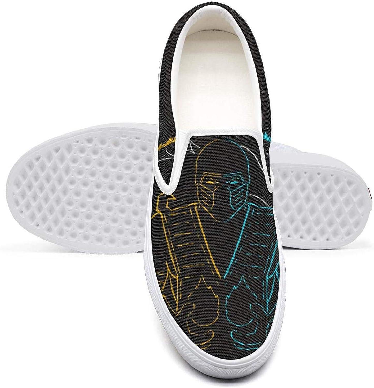 Scorpion-Mortal-Kombat- Classic Women's Canvas Slip-Ons Loafer shoes Sneaker