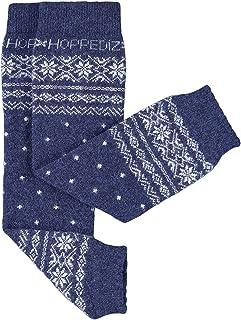 Hoppediz–Cachemira/Lana de merino bebé calentadores de la pierna (azul de Noruega)