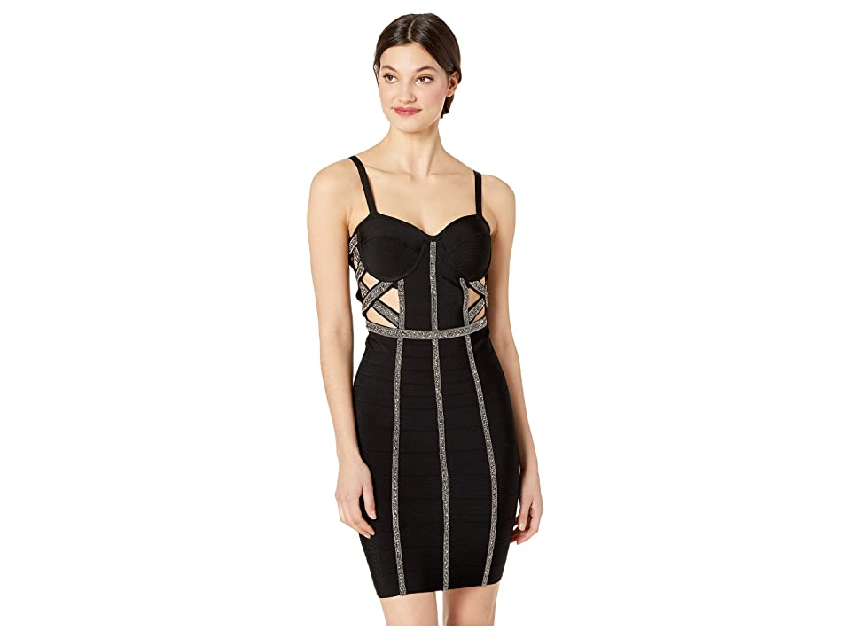 Bebe Maia Bandage Dress (Jet Black) Women