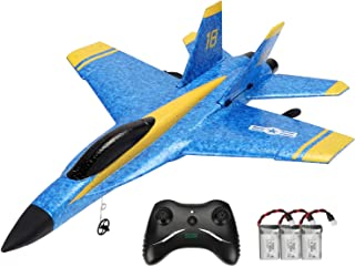Techway Rc Plane 2 Channel Remote Control Airplane Ready to Fly Rc Planes for Kids Beginners and Adults,2.4GHZ RTF RC Glid...