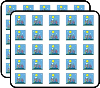 Riyadh Skyline Landmark Art Decor Sticker for Scrapbooking, Calendars, Arts, Kids DIY Crafts, Album, Bullet Journals 50 Pack