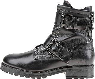Bota de motocicleta zapato mujer mjus botín negro mjus mujer