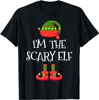 I'M THE Scary ELF Tee Christmas Xmas Funny Elf Group Costume T-Shirt