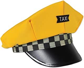 Beistle 66032 Taxi Cab Drivers Novelty Hat, Costume Accessory, One Size, Yellow/Black/White