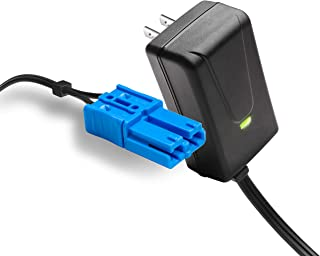 VAIX 12 Volt Battery Charger for Kid Trax Dodge Ram 3500 Beetle Mini Rideammales Scout Disney Mickey Minnie Mouse Coupe, 12V Charger Compatible with Child Ride On Car Blue Connector