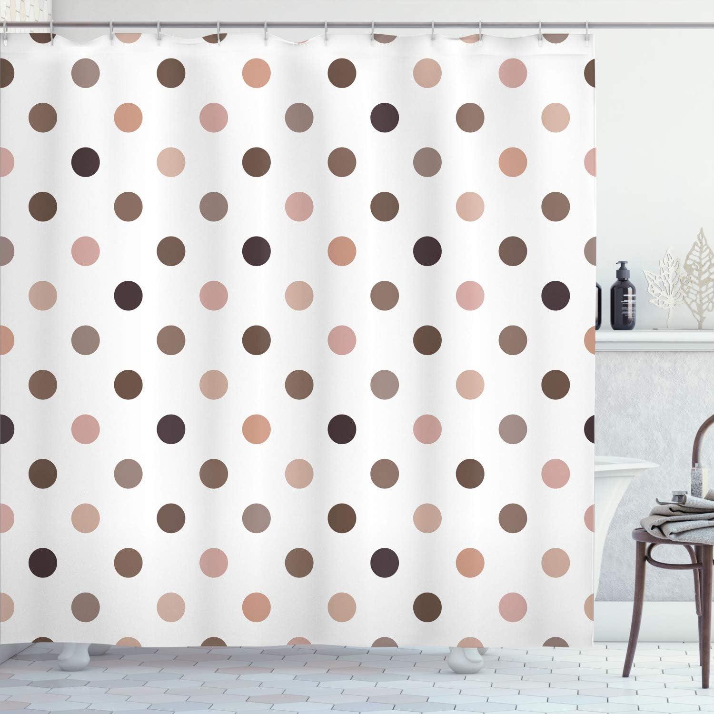 Ambesonne Polka Dots 人気 期間限定今なら送料無料 おすすめ Shower Curtain Vintage Sett Circles Grungy