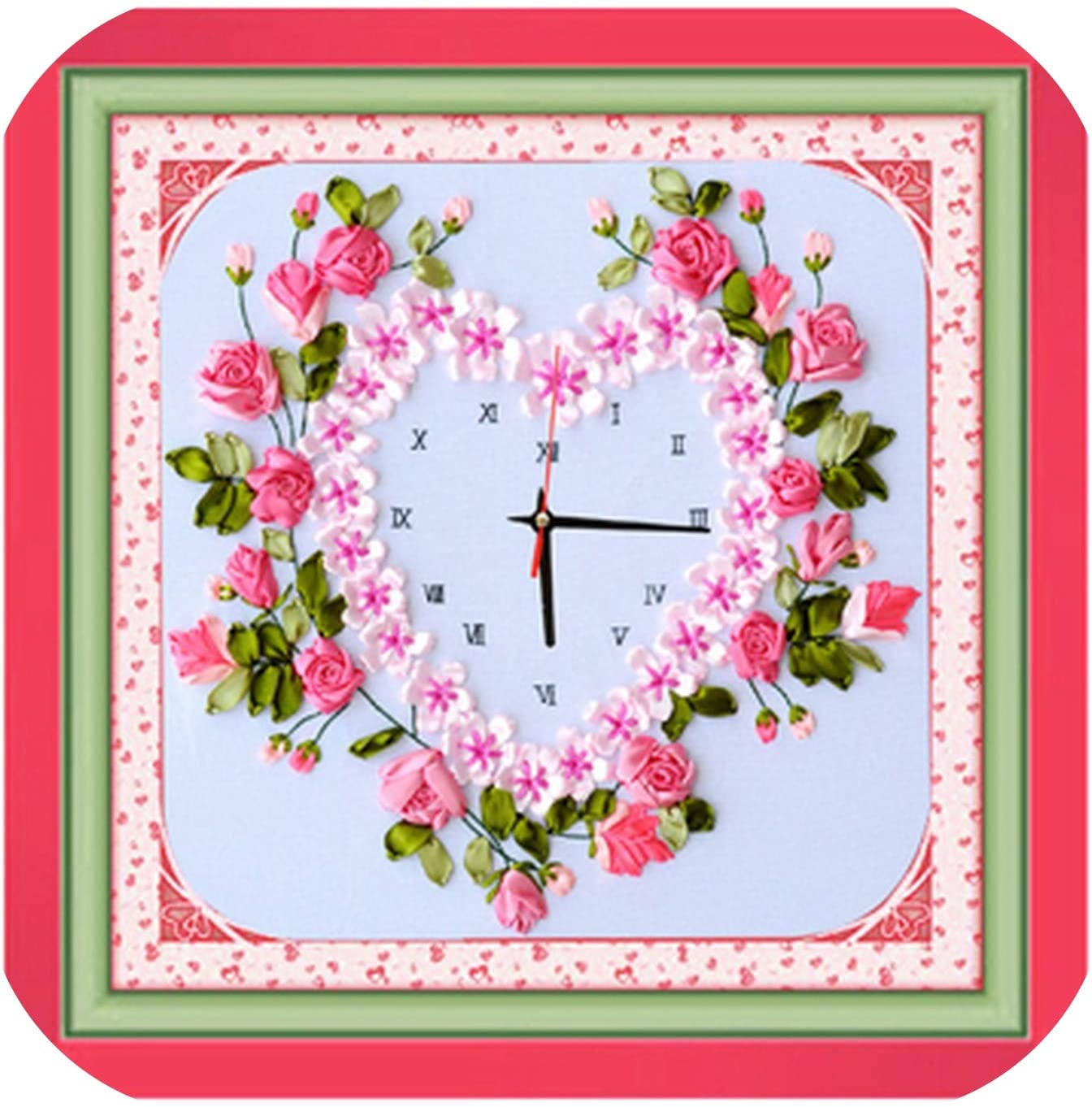 DIY Outlet SALE Painting Unique Craft Gift Wall Flower Clock Cr Sticker Easy-to-use Rose
